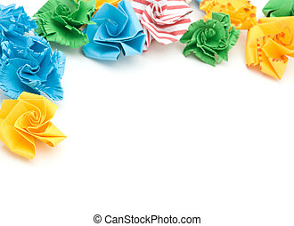 Colorful origami flower