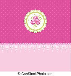 Pink easter card vector illustration