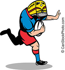 rugby player train mascot running - illustration of a rugby...