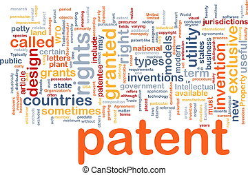 Patent is bone background concept - Background concept...