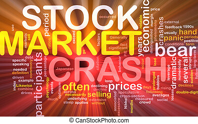 Stock market crash is bone background concept glowing -...