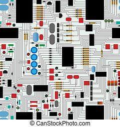 Circuit  board - Repeating circuit board pattern vector
