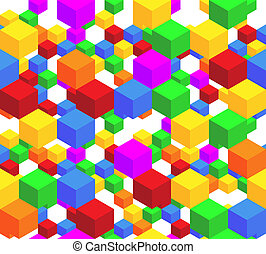 Cube Pattern  - Repeating cube pattern vector