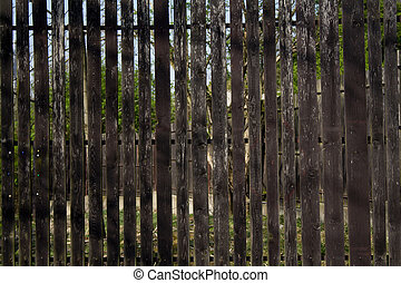 Wood Fence - detail of old wood fence with wood slats