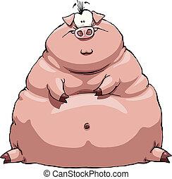 Tłuszcz, świnia