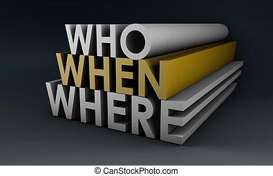 Who When Where
