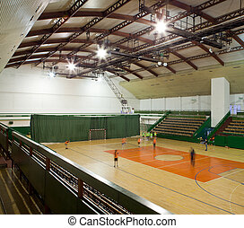 interior of a modern multifunctional gymnasium - modern...