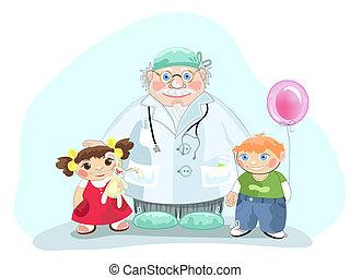 Pediatrician - Kind medicine doctor pediatrician with...