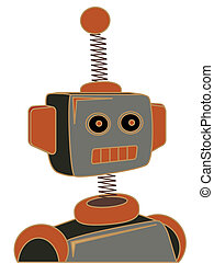 Retro cartoon robot portrait chunky - Throw back cartoon...