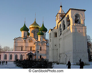 Churches at Sunset - Suzdal churches pictured at sunset...