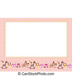 Children frame - Children pink frame