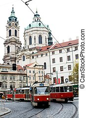 Transport - An image of a trolley-bus in Prague