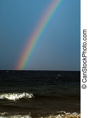 Rainbow - A rainbow over the ocean