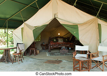 Luxury safari Tent - One of the safari tents at Governor's...