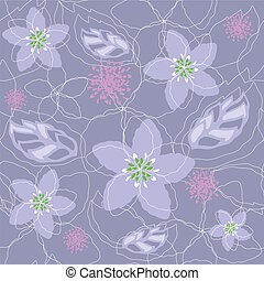 Seamless purple floral pattern