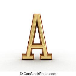 One letter of golden alphabet