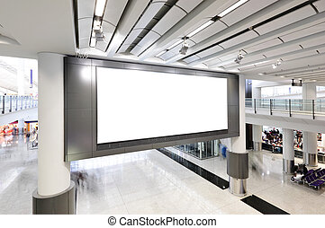 Blank billboard indoor