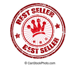 best seller stamp - Red grunge rubber stamp with the text...