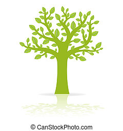 Eco Tree - Green Eco Tree, Vector Illustration