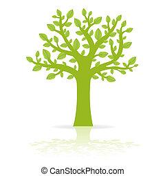 Eco Tree - Green Eco Tree, Vector Illustration