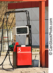 Red fuel distributor in Poland