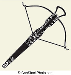 Antique Crossbow Vector
