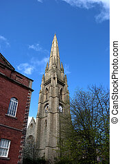 Ruined Church Spire - The Spire of a ruined church in...