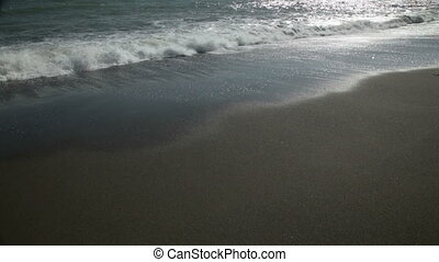Surf on a sandy beach, 1080p, Full HD, 5D2, 25fps, 130, 80...