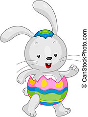 Easter Bunny - Illustration of an Easter Bunny in a...