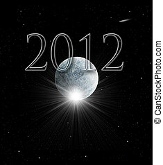 2012 Mayan Prophecy - Illustration of the Year 2012 in Mayan...