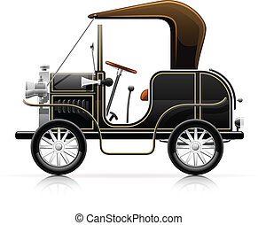 vintage black automobile vector illustration