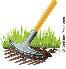garden rake vector illustration isolated on white background