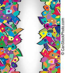 colorful splinters - vector background of colorful splinters...