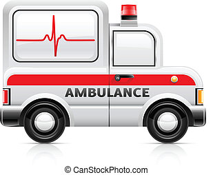 ambulance car vector illustration isolated on white...