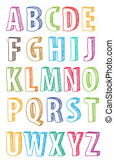 hand drawn abc letters