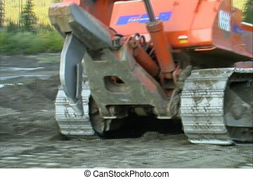 Bulldozer - Bulldozer at construction site