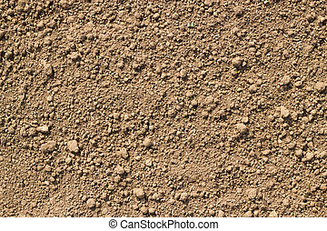Garden soil texture close up.