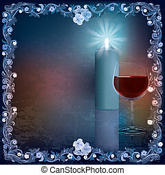 abstract grunge illustration with wine glass