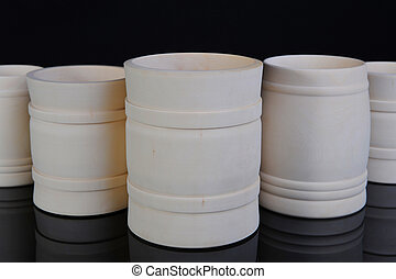 Image collection of wooden jars for the kitchen