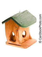 木制, 白色, 被隔离,  Birdhouse