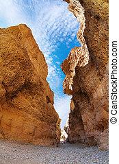 Canyon in Namib Desert - Sesriem Canyon in Namib Desert,...
