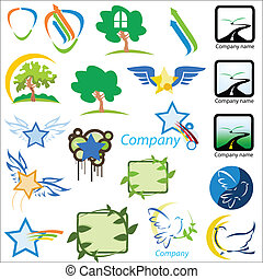 set of logos nature