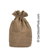 Burlap sack - Full burlap sack, isolated on white background