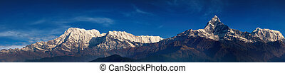 Himalayan panorama, Annapurna massif, view from Sarangkot,...