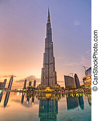 Burj Khalifa skyscraper - Tallest building in the world...