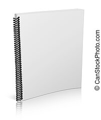spiral notepad - 3d blank notepad isolated on white