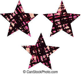 distressed texture star