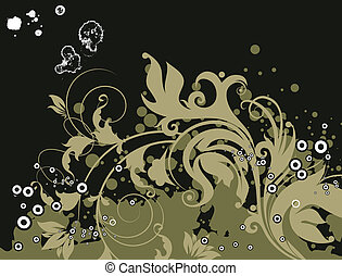 Floral background - Abstract vector illustration for design...