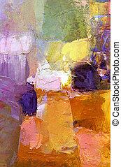 abstratos, acrílico, pintura, fundo