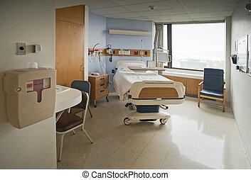 Hospital room - Clean Empty Hospital Room Ready for One...